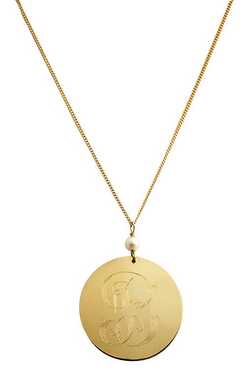 14-Karat Gold-Filled Monogrammed Necklace