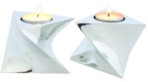 Silver Candleholder Set by Nambe