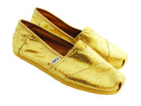 Gold Glitters Shoes by Toms