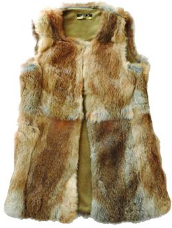 Rabbit Fur Vest by Larok