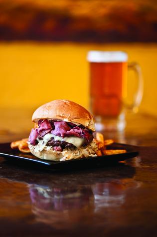 Reuben Buffalo Burger
