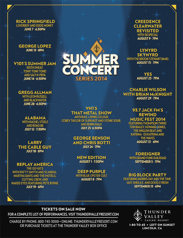 Thunder Valley Summer Concert Series 2014