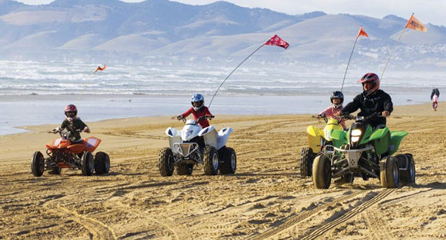 Atv Riding On The Dunes
