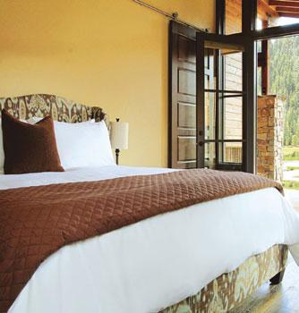 bedroom at highland ranch resort