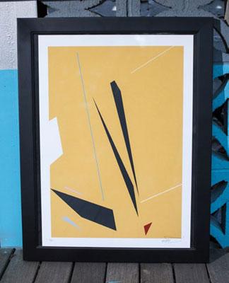 Screen print, Remi Rough, 2014