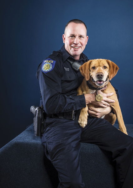 Officer Jeff Rath and Rex