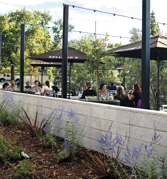 Selland's large outdoor patio