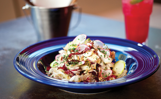 Mixed chicories salad