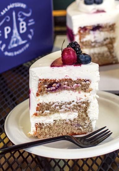 Paris Baguette's blueberry chiffon cake