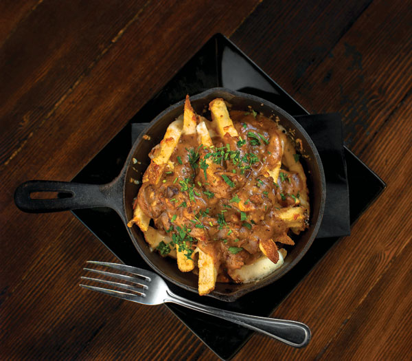 French fries with cheese gravy