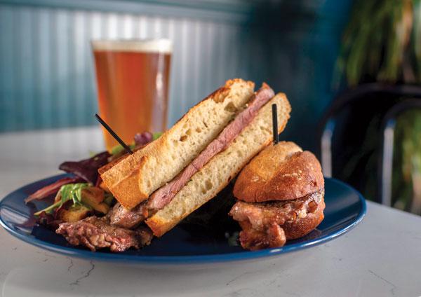 Garlic Steak Sandwich