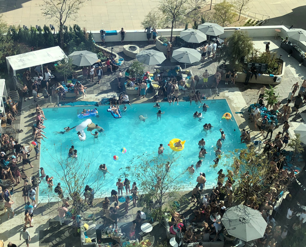 Revival Pool Party from Above