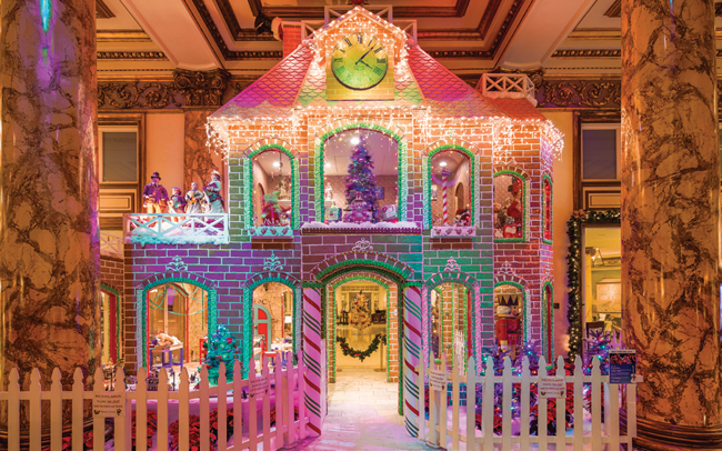 The Fairmont's two-story gingerbread house