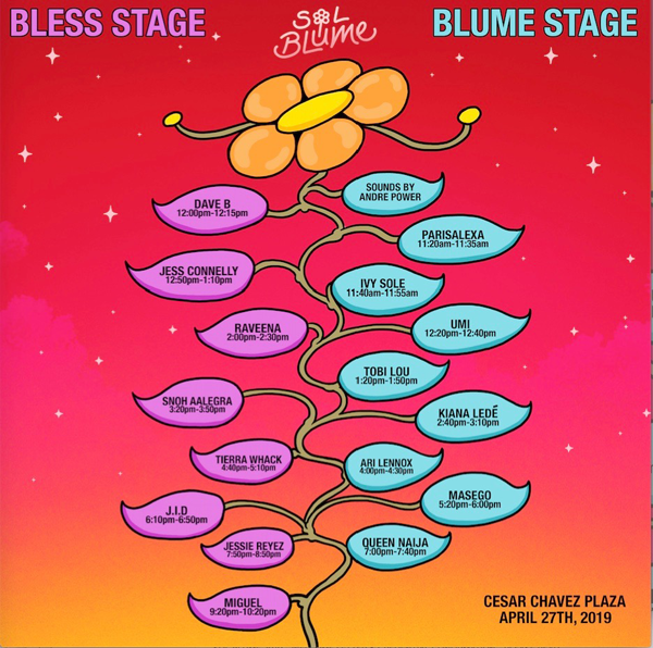 sol blume lineup