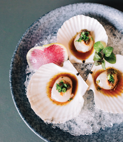 Chilled scallops