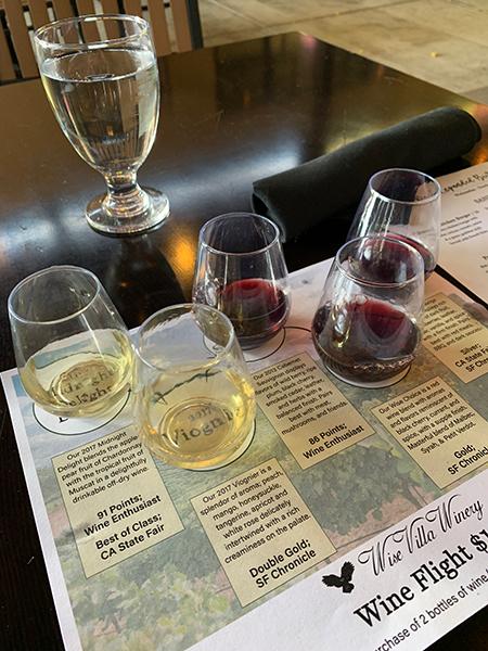 wise villa wine flights