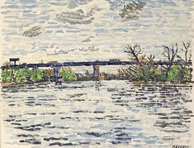 watercolor highway