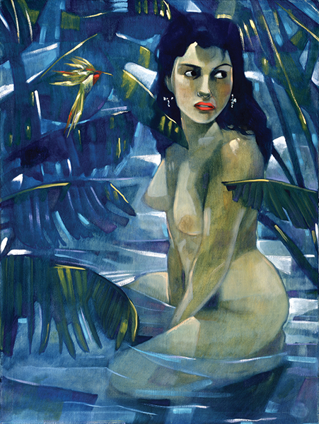"""Hiding From Me,"""" circa 1994, by Sonya Fe"""