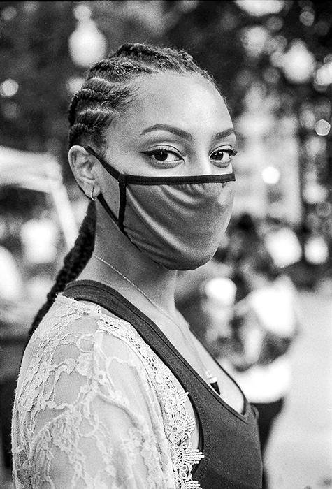 female protester