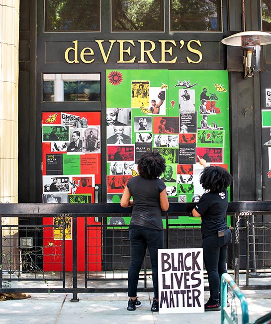 de Vere's black lives matter