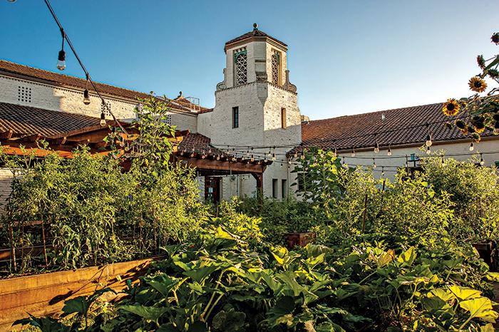 woodland city hall garden
