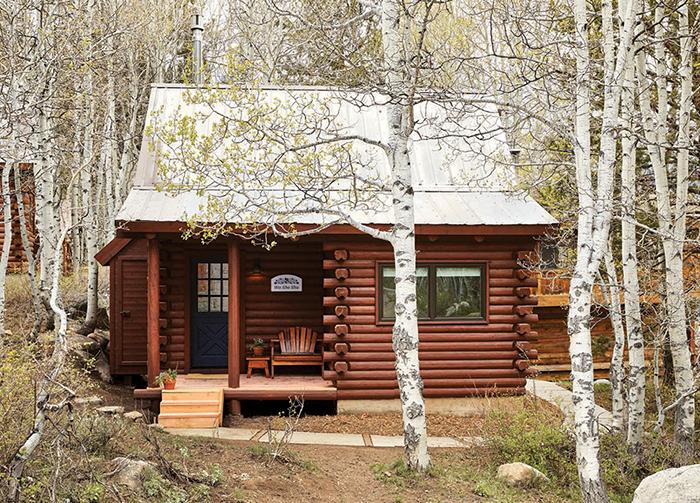The Wa She Shu cabin at Wylder Hotel Hope Valley. highway 88