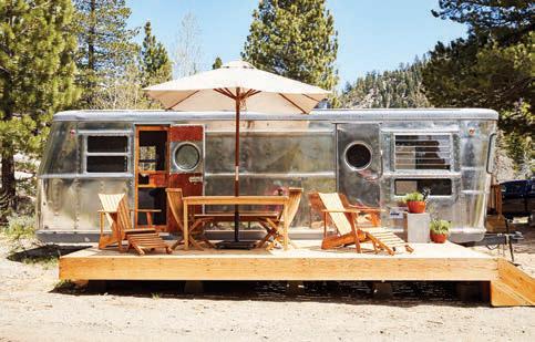 The 1951 Spartan RV at Wylder Campground. highway 88