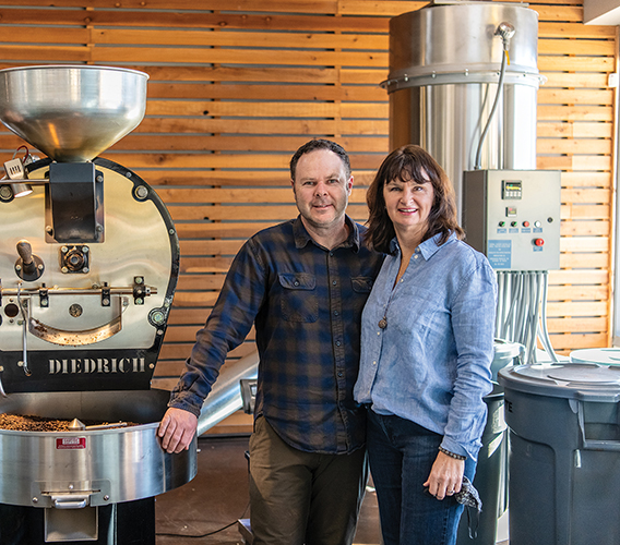chocolate fish coffee owners andy and edie baker