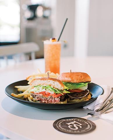 grass fed angus burger