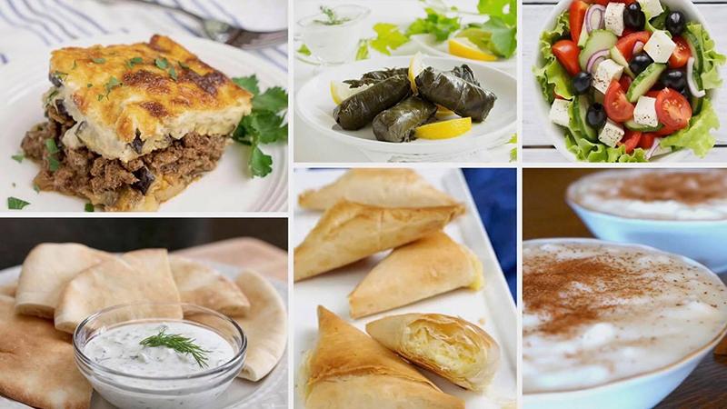 greek festival spread