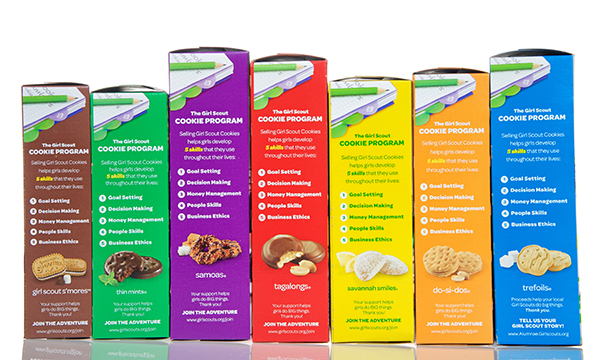 girl scout cookie types