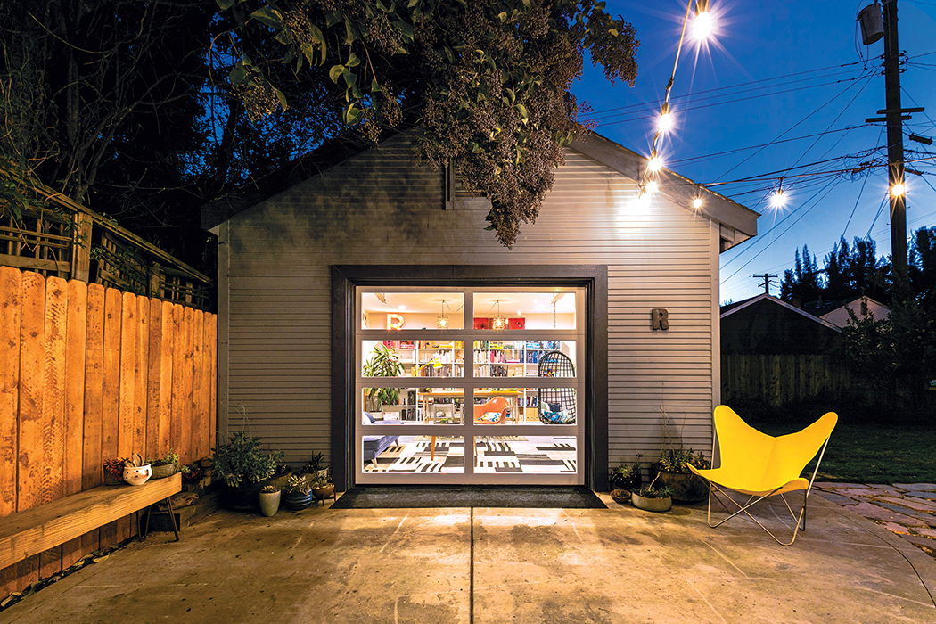 glass door over the garage design transformation