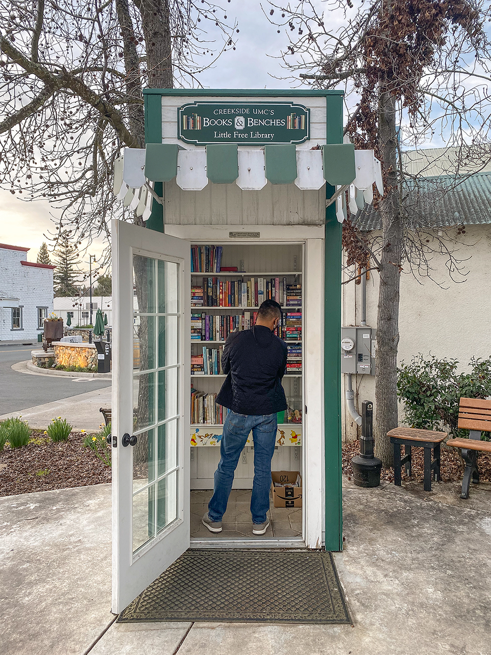 library phone booth in Sutter Creek