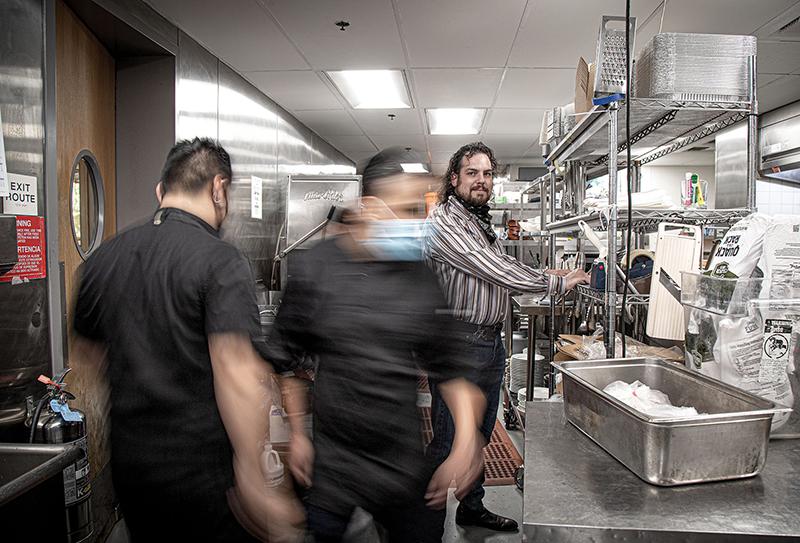 the staff at Brasserie du Monde