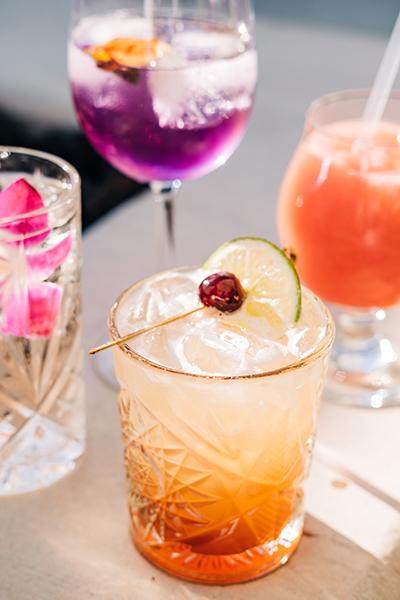 summer cocktails at Shangri-La