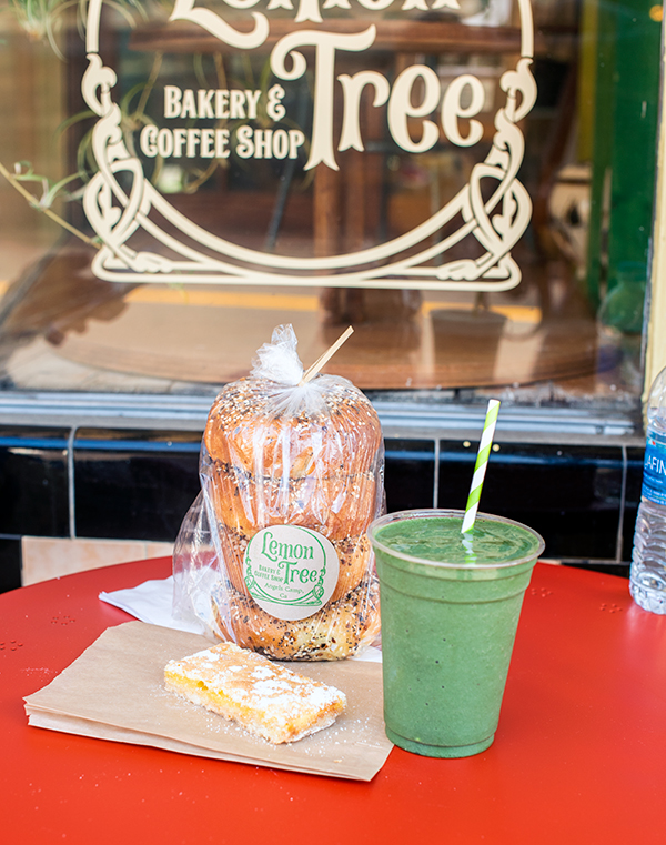 treats from the lemon bakery and coffee shop