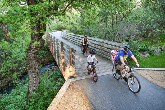 Willow Creek to Humbug Creek trail in folsom