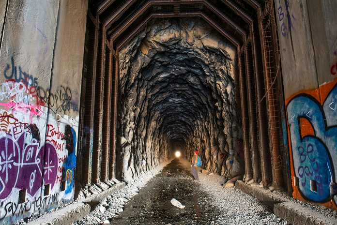donner railroad tunnels