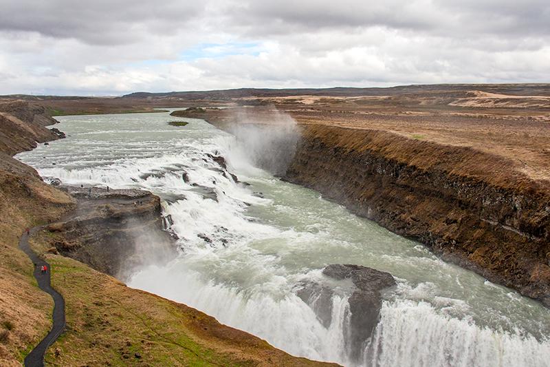 waterfalls at Gullfoss Iceland