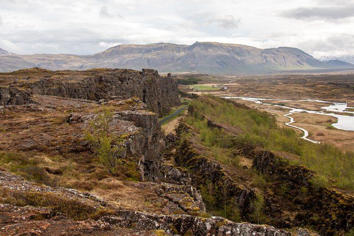 cliffs at Thingvellir National Park in Iceland