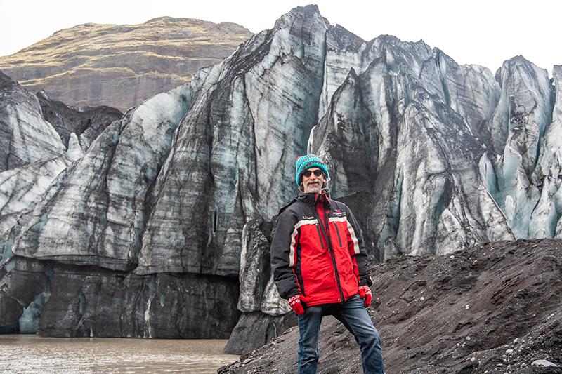 sasha infront of glacier