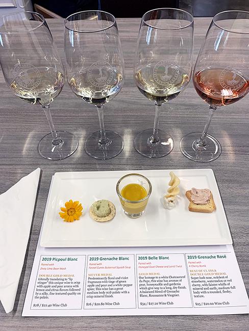 acquiesce wine tasting