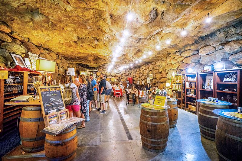 cave wine tasting