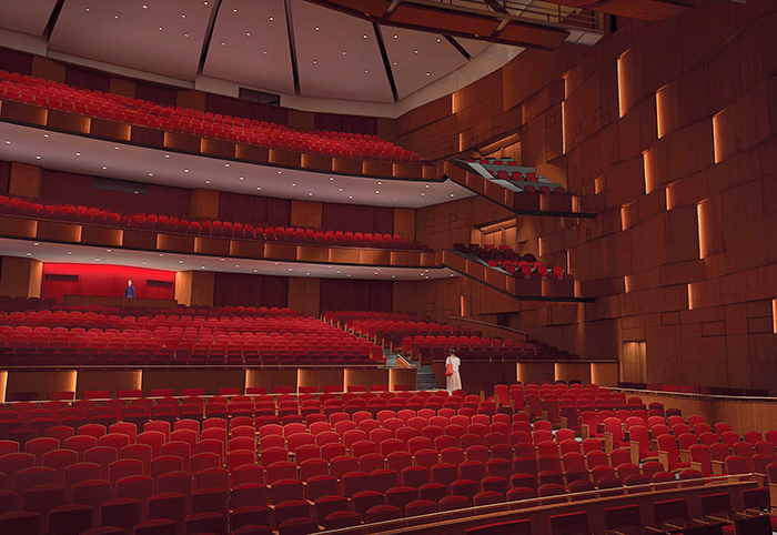performing arts center open