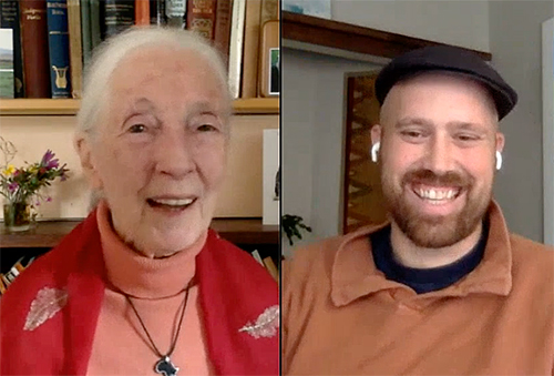 dr. jane goodall and justin barker