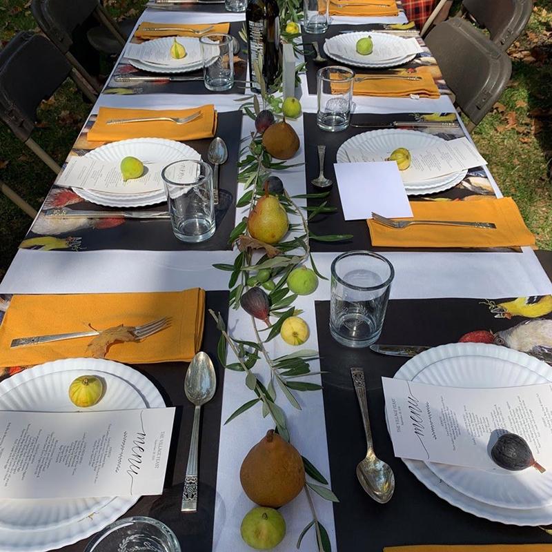 village feast table