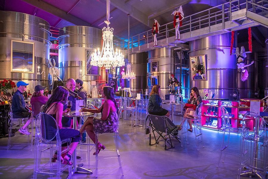 The Crystal Cellar at Raymond Vineyards wine experience
